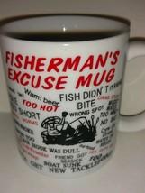 Fisherman's Excuse Collectible Coffee Mug FISHING FISH - $22.76