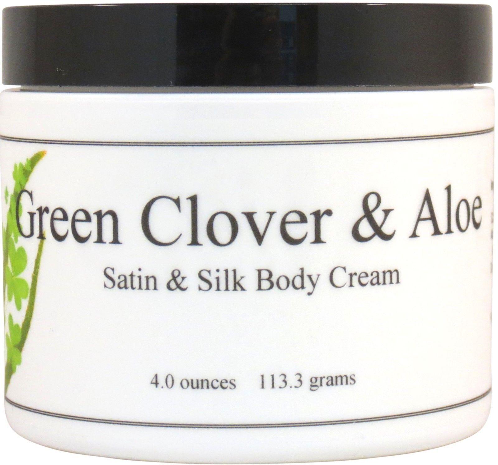Green Clover and Aloe Satin and Silk Cream