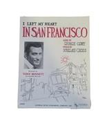 Tony Bennett I Left My Heart In San Francisco Sheet Music 1954 Vintage - $12.86