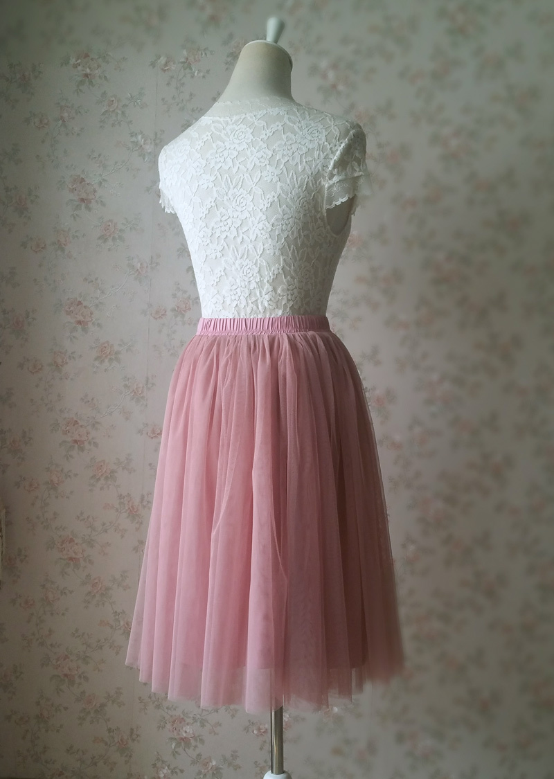 Pink tulle skirt 6