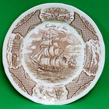 "Vintage Alfred Meakin (England) 10"" Dinner Plate, Fair Winds Brown Pattern - $5.95"