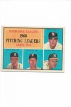 1961 Topps #47 NL Pitching Leaders, Warren Spahn, Lew Burdette, Broglio,... - $3.60