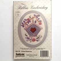 Janlynn Ribbon Embroidery Kit  DOTTED BIRDHOUSE Bird Flowers Frame 00-149 New - $4.46