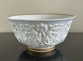 """Versace for Rosenthal White Baroque Pattern 8 3/4"""" White Bisque Porcelain Bowl - $299.00"""