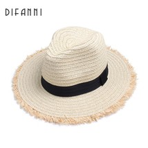 [DIFANNI] New Spring Summer Hats For Women Wide Brimmed Jazz Panama Hat ... - $17.50