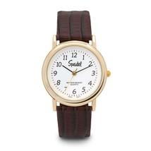 Speidel Item 60331710 Men's Watch Goldtone Brown Leather Band- - $20.90