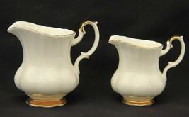 Pair of beautiful Vintage Royal Albert Fine Bone China Jugs in Val D'or Pattern - $21.90