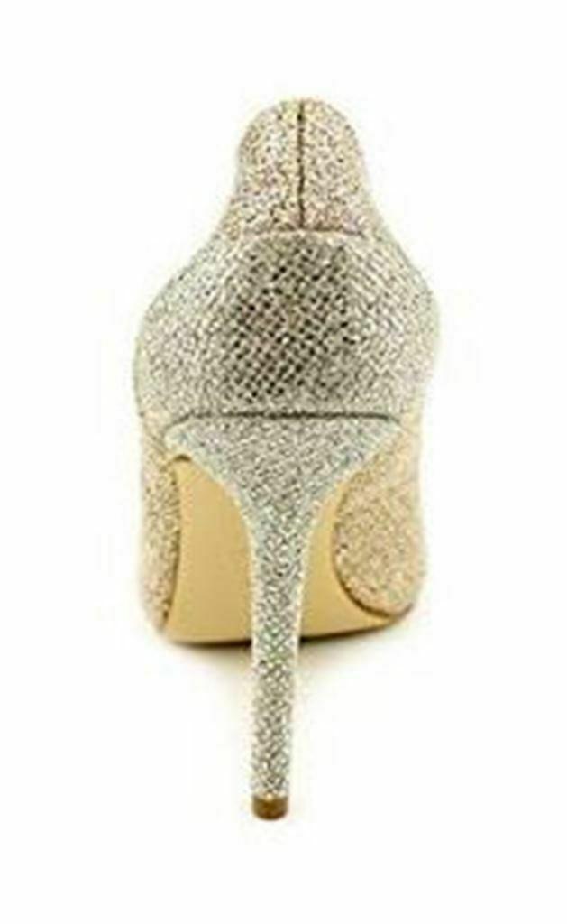 Women's Shoes Michael Kors SINCLAIR PUMP Stiletto Heels Glitter SAND Glamour image 3
