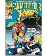 Fantastic Four Versus the X-Men Comic Book #2 Marvel 1987 UNREAD VFN/NEA... - $3.50