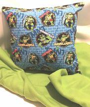 TMNT Pillow And Blanket Teenage Mutant Ninja Turtle Wall Pillow and Blanket Set image 3
