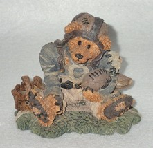 Boyd Bearstone Resin Bears Knute And Gridiron Leatherhead Figurine #2245 - $8.56