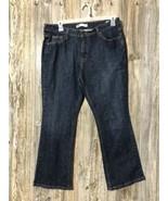 Women's LEVI'S Boot Cut 515 Blue Jeans Sz 16 S Dark wash Msre 35x28 - $21.77