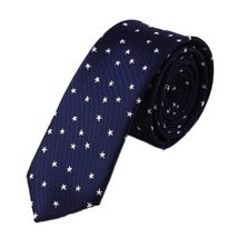 Trendy Dark Blue(Starry Sky) Patterned Tie/Men Ties/Neckties Waterproof Ties 7CM