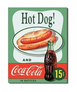Coca Cola Coke Hot Dogs Combo 15 Cents Retro Vintage Wall Decor Metal Tin Sign - $14.99