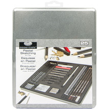 essentials(TM) Medium Life Drawing Art Set W/Tin-  - $27.22