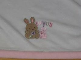 Just Born White Pink I Heart Love You Bunny Rabbit Plush Fleece Girl Bla... - $44.54