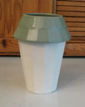 "Pfaltzgraff Pottery NATUREWOOD Birdhouse Vase Utensil Holder 7.5"" tall - $14.84"