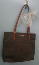 Michael Kors Bedford Large Pocket Tote Brown Signature Logo - $181.98