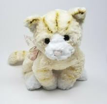 GUND Jaune & Crème Tabby le Chat Animal en Peluche Jouet #43101 Kitty Avec Nœud - $32.53