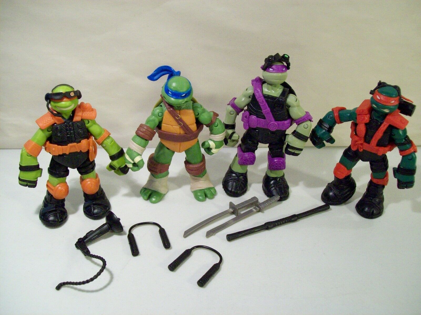 TMNT Teenage Mutant Ninja Turtles 2013 Series 5 Stealth Tech 4 Turtle Figures