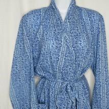 Vintage 60s Harcourt Blue Robe Dressing Housecoat Size M Pockets Belt Co... - $79.15