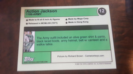 2008 Topps Mego Musée Action Jackson Armée Promo Carte Seulement 30 Conçu #12 image 2