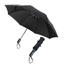 Auto Open/Close Inverted Folding Umbrella, Compact Travel Umbrella (BLACK) - $24.54