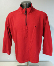 Mens Nautica 1/4 Zip Red Size XXL 2XL Cotton 3/4 Sleeve Pullover Shirt S... - $19.79