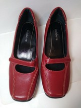 Liz Claiborne Flex Red Leather Loafer Shoes Size 7M Andy - $19.79