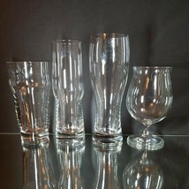4 LENOX TUSCANY CLASSICS Crystal Assorted Craft Beer Glasses Signed & w ... - $37.99