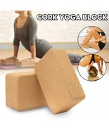 High Density Cork Yoga Block Pilates Brick Fitness Training Block Brick Gym - $69.29
