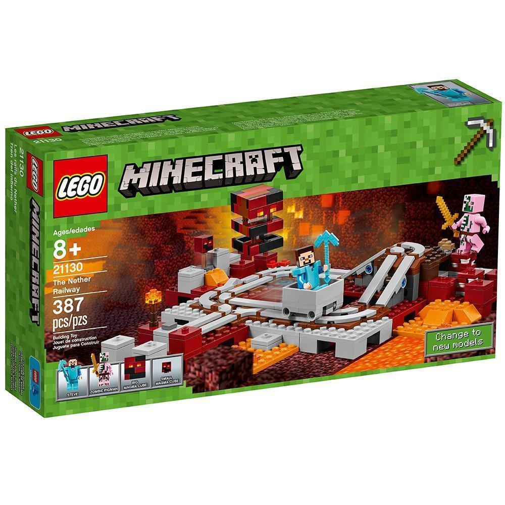 LEGO Minecraft The Nether Railway 21130 [New] Building Set
