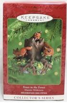 Hallmark Keepsake 2000 Majestic Wilderness #4 Foxes in the Forest Orname... - $19.64