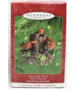 Hallmark Keepsake 2000 Majestic Wilderness #4 Foxes in the Forest Orname... - $19.64