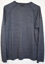 Under Armour Men's Heathered Blue Loose HeatGeart Long Sleeve Athletic Shirt M image 2