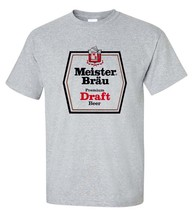 Meister Brau T-shirt classic 1970s beer gray cotton blend retro graphic tee - $19.99+