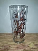 Vintage VTG 1973 Looney Toons WILE E. COYOTE Warner Bros Pepsi 16oz/6in. Glass  - $19.99