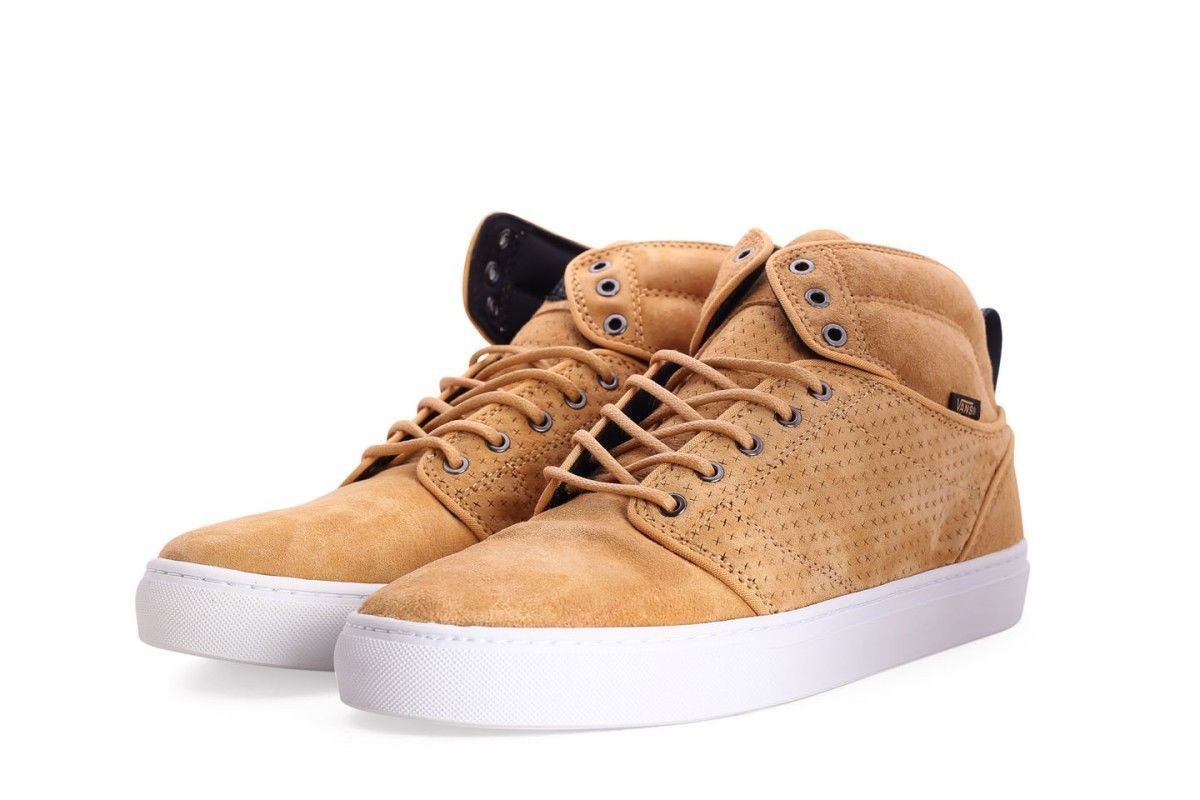 63772b1e4ca89b NEW VANS OTW COLLECTION ALOMAR LUXE REVERSE TAN WHITE SHOES MENS SZ 7.5  SKATE -  56.06