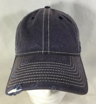 Baseball Hat Cap Blue White Adjustable Distressed  - $19.80