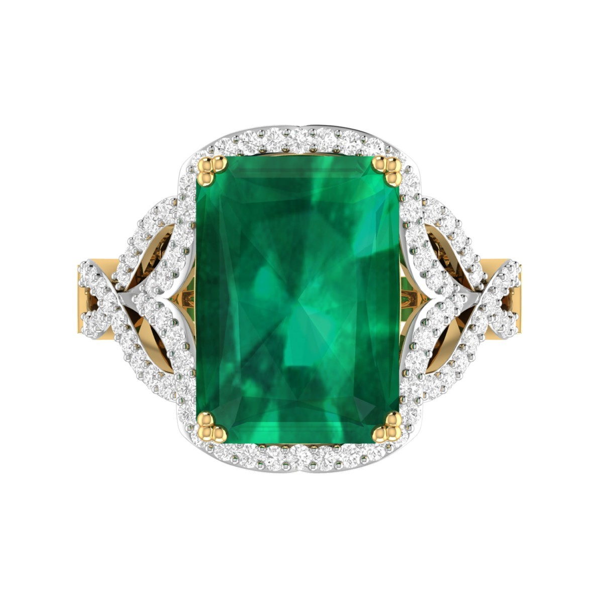 engagement ring wedding ring emerald