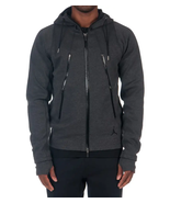 Nike Men's Jordan Fleece Hoodie  NEW AUTHENTIC DK Grey/Black 688990-032 ... - $94.49