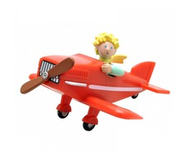 The Little Prince with sword and Little Prince in airplane figurine set Plastoy image 3