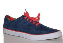 Keds Navy Orange Cushioned Heel Camp Oxford Suede Canvas Sneakers Sz 12 Men - $49.49