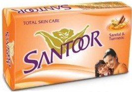 Santoor Total Skin Care Soap With Sandol And Turmeric - 100 gm X 12 pack ** image 1