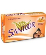 Santoor Total Skin Care Soap With Sandol And Turmeric - 100 gm X 12 pack ** - $41.25