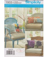 Simplicity Harper & Henny Pattern 1933 Decorative Throw Pillows with Var... - $5.93
