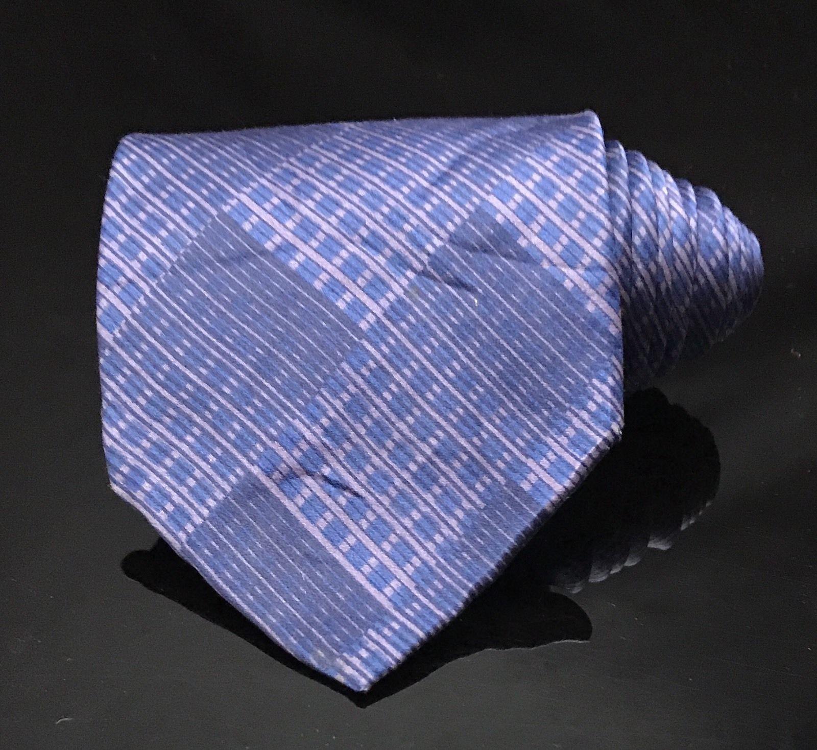 GEOFFREY BEENE Hand Made Polyester Purple Tie Diamond Necktie image 2