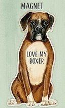 "Love My Boxer Dog 4"" Fridge or Auto Magnet With Gift Card - $6.64"