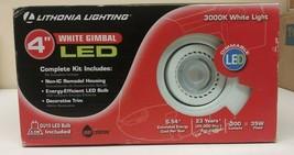 "Lithonia Lighting 4"" White Gimbal LED Dimmable Model LK4GMW LED LPI M6 - $24.74"
