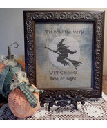 Witching Time Of Night halloween cross stitch chart The Nebby Needle - $7.20